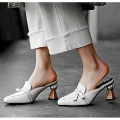 Chiko Kymberlyn Pointed Toe Block Heels Clogs/Mules Pointed Toe Block Heel, Block Heel Loafers, Heeled Loafers, Block Heels, Women's Loafers, Pointed Flats, Loafer Shoes, Shoes Heels Pumps, Mules Shoes