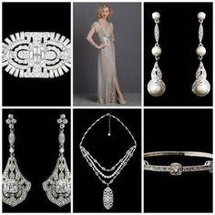 Art Deco elegance www.vintagebridaljewellery.co.uk