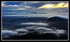 The Summit - Sunrise at Adam's Peak, Sri Lanka Adam's Peak, Buddhist Traditions, Thing 1, Rock Formations, Sri Lanka, Places To Travel, Sunrise, Traveling, Clouds