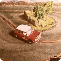 Mini Cooper (1/32 scale) #scalextric #slot #slotcar #slottrack #slotcartrack #circuito #rennbahn  #maqueta #portable  #forsale  #scalemodel #modelismo #modelism #handmade #paint #airbrush #aerografo #landscaping #rally #cars #wrc #wec #paintwork #mountain #montaña #diy #doityourself #entrepreneur #custom #artisan #woodart #art #carart #maqueta #madera #handmade #hechoamano #woodwork #fetama #mini #minicooper #cooper #mini1000 #132scale #montecarlo #rallymontecarlo #toypic #handcrafted Slot Car Tracks, Slot Cars, Handmade Paint, Mini Coopers, Classic Mini, Radio Control, Woodworking, Mountains, Painting