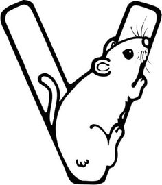 Letter V Is For Vole Rodent Coloring Page From Learn English Alphabet Set I Category Select 26056 Printable Crafts Of Cartoons