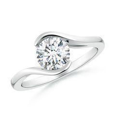 Angara Diamond Bypass Ring in Yellow Gold Y4wyKC