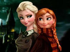 """Puedo adivinar en que casa de hogwarts estarías usando solo preguntas de """"frozen"""""""