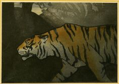 John Dickson Batten's lithography 'The tiger', 1897