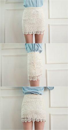 Lace skirt  #skirt #kooding #lace
