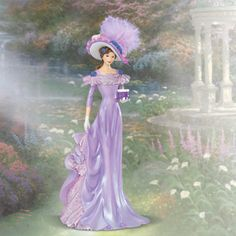 Thomas Kinkade Figurines Collection | Thomas Kinkade SPIRIT OF SUPPORT Alzheimers Support Victorian Lady ...