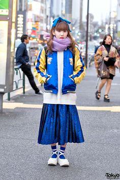 "cool vintage ""Sukajan"" (souvenir jacket) ... Hiraharacchi, 19 years old | 22…"