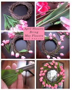 70 Ideas Spring Door Decorations Diy Holidays For 2019 Diy Spring Wreath, Spring Door Wreaths, Easter Wreaths, Spring Crafts, Wreath Crafts, Diy Wreath, Diy Crafts, Wreath Ideas, Diy Flowers