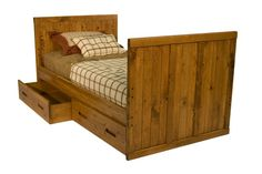 Young Pioneer Twin and Full Captains Bed - Bailey's Furniture