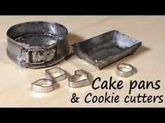 Miniature Kitchen Utensils; Cookie Cutters, Baking Tin & Springform Pan - Tutorial - YouTube
