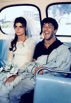 """""""the graduate"""", dustin hoffman and katherine ross, one of the best movie endings..."""