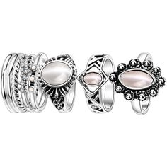 Artificial Opal Oval Ring Set ($5.34) ❤ liked on Polyvore featuring jewelry, rings, accessories, imitation rings, oval ring, opal jewelry, artificial jewellery and imitation jewelry