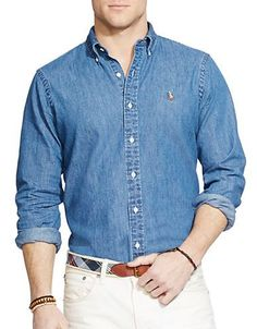 Polo Ralph Lauren - Classic-Fit Denim Shirt f66d808674f