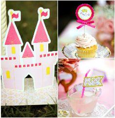 pink princess fairytale birthday party printables supplies