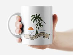 Hello Summer Mug Funny Rude Quote Coffee Mug Cup Q147 #Handmade