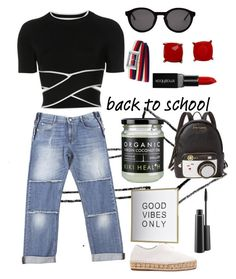 """""""#backtoschool"""" by regina-eghie on Polyvore featuring STELLA McCARTNEY, T By Alexander Wang, Thierry Lasry, Gucci, Alexander Wang, Betsey Johnson, Smashbox and MAC Cosmetics"""