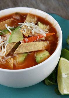 Delicious chicken tortilla soup!