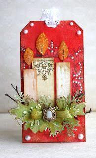Sorokonojka - like-like-like this Christmas tag! Christmas Paper Crafts, Christmas Gift Wrapping, Christmas Tag, All Things Christmas, Handmade Christmas, Holiday Crafts, Christmas Decorations, Christmas Candles, Nordic Christmas