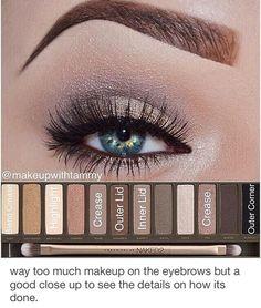 Best Ideas For Makeup Tutorials : Urban Decay Naked 2 eyeshadow tutorial Urban Decay Makeup, Maquillage Urban Decay, Urban Decay Eyeshadow, Daytime Eyeshadow, Urban Decay 2, Urban Decay Palette, Kiss Makeup, Love Makeup, Makeup Tips