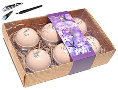 9 PIECE Lavender Bath Fizzer Bomb Bath Body Shower Spa Gift Set for Women Mom Mother in Law Hostess with Manicure Set Style3 * To view further for this item, visit the image link.(It is Amazon affiliate link) #instahub