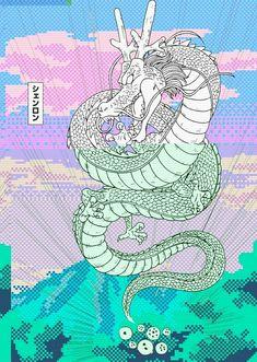 #dragon #aesthetic #pastel #blue #pink #japan
