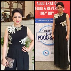 Actress Tisca Chopra in Ridhi Mehra jumpsuit at the Keep Food Safe campaign in Bengaluru! @tetrapakindia #campaign #ridhimehra #designer #jumpsuit #black #actress #celebrity #event