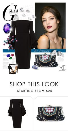 """""""Be-Jeweled: Embellished Clutch"""" by mcheffer ❤ liked on Polyvore featuring MICHAEL Michael Kors"""