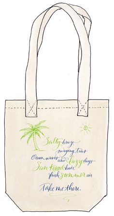 Love this tote bag design by Erica McPhee? Cast your vote in our Blank Canvas Challenge for this design by pinning it! For more information on the contest visit www.onekingslane.com/designchallenge