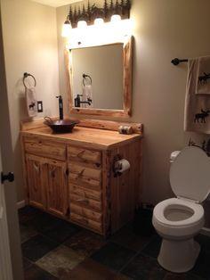 Custom Rustic Cedar Bathroom Vanity Cabinet 36 by Kingoftheforest, $675.00