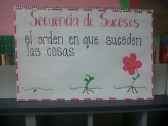 Despite the fact that this is in Spanish--- I love this anchor chart for teaching sequence of events