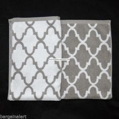 Cynthia Rowley White Amp Gray Quatrefoil 3pc Towel Set 1 Ea