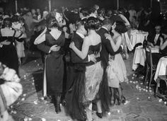 Couples dancing at 43 Club on Gerrard St, NYC. Unknown Original Source (1922)