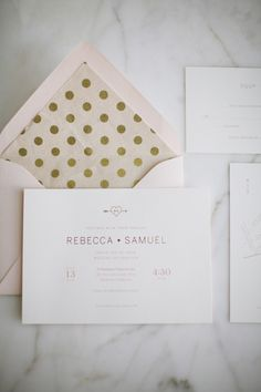 Chic romantic wedding from Adrienne Gunde Photography - wedding invitation