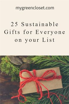 Need sustainable gift ideas? Whether you're shopping for your dad, mom, spouse, partner, kids, grandparents, teachers or anyone else, this list has ideas for you. Click on the post to see more! #ecofriendlygifts #sustainable Creative Christmas Gifts, Christmas Gifts For Friends, Gifts For Kids, Sustainable Gifts, Sustainable Living, Cute Stockings, Gifts For Nature Lovers, Do What Is Right, Green Gifts