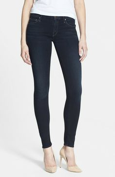 Mother The Looker Stretch Skinny Jeans in Bittersweet