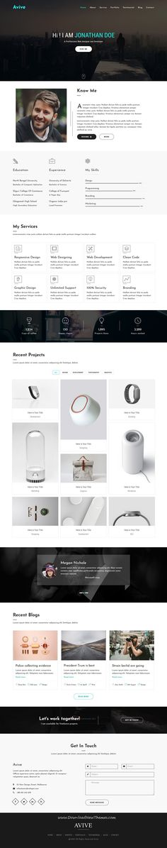 Sobnom is fresh and clean Design 2in1 responsive HTML #bootstrap - personal resume websites