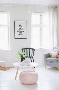 my scandinavian home: A Danish sitting room transforms from summer to autumn Scandinavian Interior Design, Scandinavian Home, Living Room Inspiration, Home Decor Inspiration, Decoration Bedroom, Room Decor, Deco Pastel, Pastel Pink, Dusty Pink