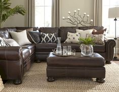 Leather Furniture Ideas For Living Rooms What Size Recessed Lights Room How To Decorate With Brown Real Apartment Awesome 70 Modern