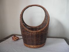 vintage woven basket by GTDesigns on Etsy, $24.00