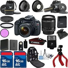 Top Value Bundle For T5 Camera Body with 18-55mm IS II + Deluxe Backpack + 3Pc Filter Kit + Wide Angle Lens + Telephoto Lens + Spider Tripod + Extra Battery + 2pcs 16GB Memory Cards + 24pc Kit  http://www.lookatcamera.com/top-value-bundle-for-t5-camera-body-with-18-55mm-is-ii-deluxe-backpack-3pc-filter-kit-wide-angle-lens-telephoto-lens-spider-tripod-extra-battery-2pcs-16gb-memory-cards-24pc-kit/