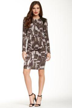 Cadence Silk Blend Abstract Dress