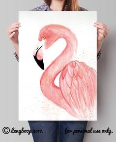 26 ideas watercolor art prints colour for 2019 Flamingo Painting, Flamingo Art, Flamingo Drawings, Pink Flamingos, Watercolor Print, Watercolor And Ink, Watercolor Paintings, Soft Pastel Art, Art Drawings