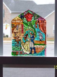 Beauty and the Beast Sugar Window