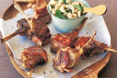 It may sound fancy, but these bacon-wrapped lamb cutlets will be on the dinner table in under half an hour.