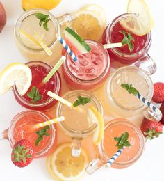 8 different homemade lemonade recipe all in one place! Learn how to make lemonade with fresh lemons or lemon juice in varieties like strawberry lemonade, raspberry lemonade, and even watermelon and tropical lemonade. This post will be your go-to guide for