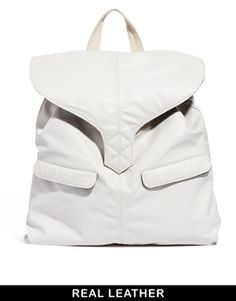 ASOS Leather Backpack With Tab Detail