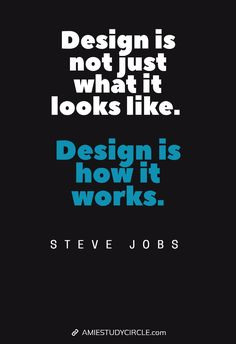 Design is not just what it looks like. Design is how it works. - Steve Jobs Tech Quotes, Steve Jobs, It Works, Company Logo, Design, Nailed It