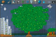 The tree of life reborn in a futuristic metropolis / Back to the future!  The Sandbox will launch on 15th May - Discover a unique #particle #8bit #pixelart game on iPhone http://www.thesandboxgame.com