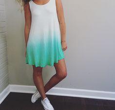 Skinny Dip (dye) Dress | Aqua