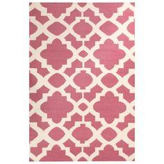 Marrakesh Pink Moroccan Lattice Flatweave Rug